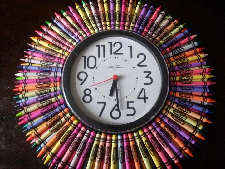 Crayola Crayon Clock Deebaubles