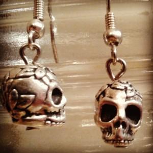 Skulls and Roses earrings $14
