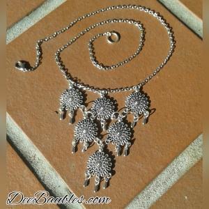 Boho Fringe Medallion Necklace $29