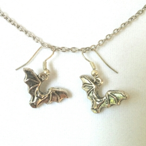Silver Bat Earrings $9