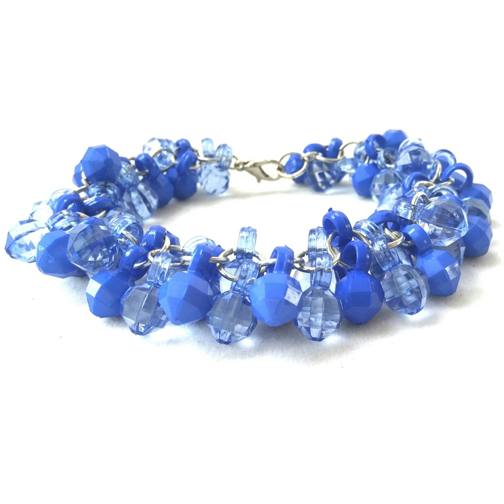 Blue Bracelet, Charm Bracelet, Blue Charm Bracelet, Statement Jewelry, Unique Jewelry, Unique Bracelet, Blue Statement Jewelry, Trendy Jewelry, Unique Trendy Jewelry, Costume Jewelry, Handmade Jewelry, Handmade Bracelet, Unique Handmade Jewelry