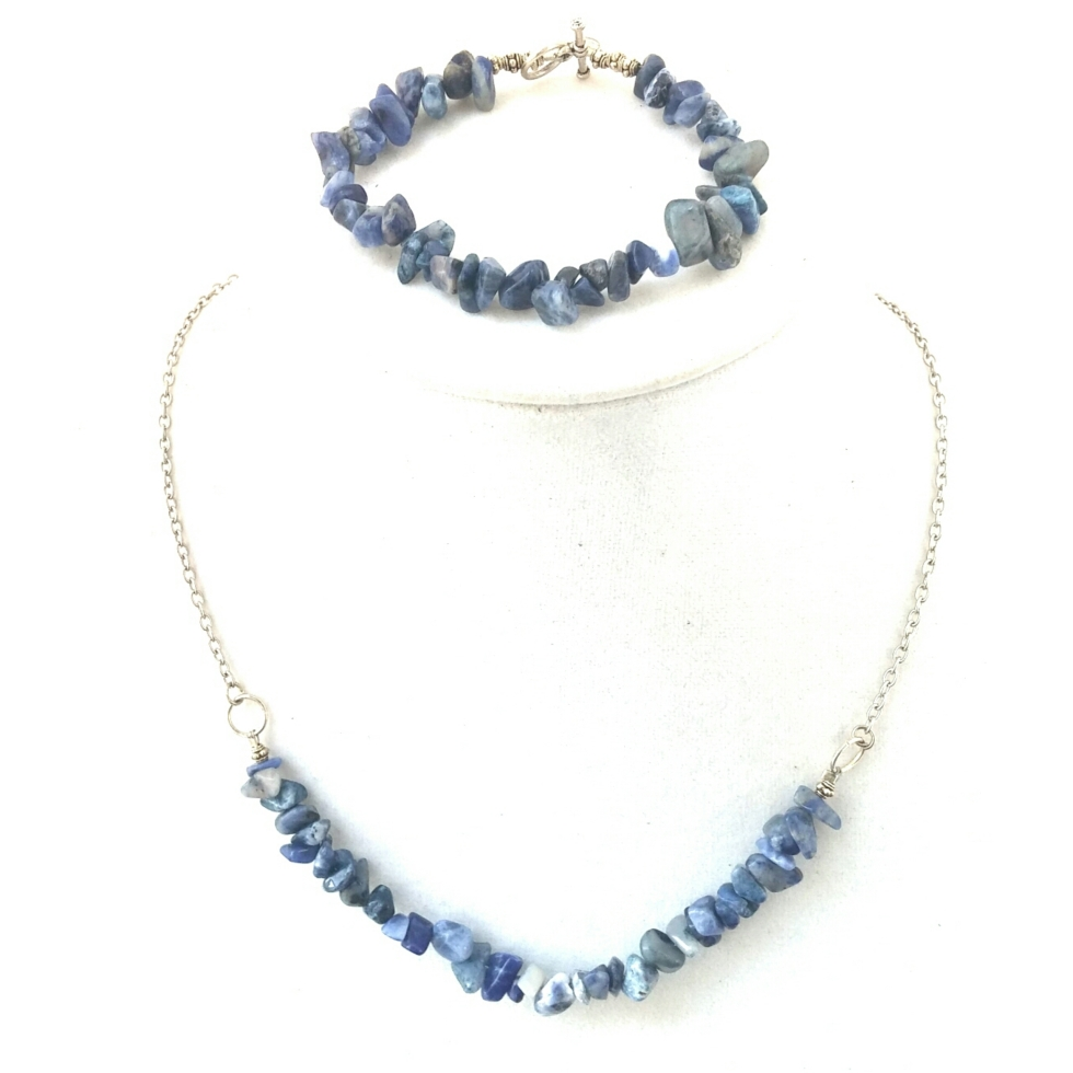 Sodalite Necklace, Sodalite Bracelet, Blue Bracelet, Blue Necklace,Blue Jewelry,Healing Stone Jewelry, Healing Stone Necklace, Everyday Jewelry