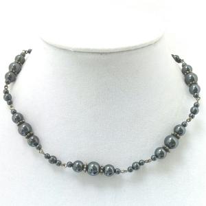 Hematite Bubbles Necklace $19