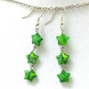 Its Raining Green Stars Earrings $12