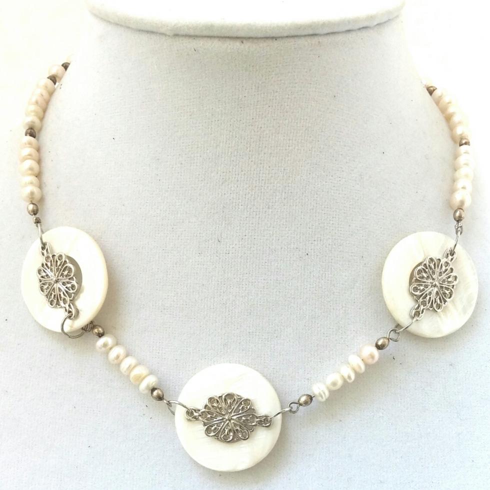 Cream Bridal Necklace