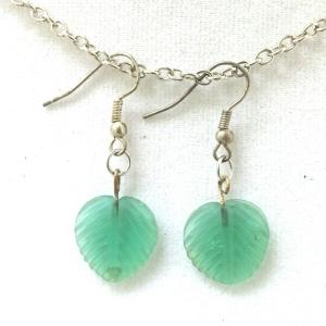 Green Leaf Earrings $9
