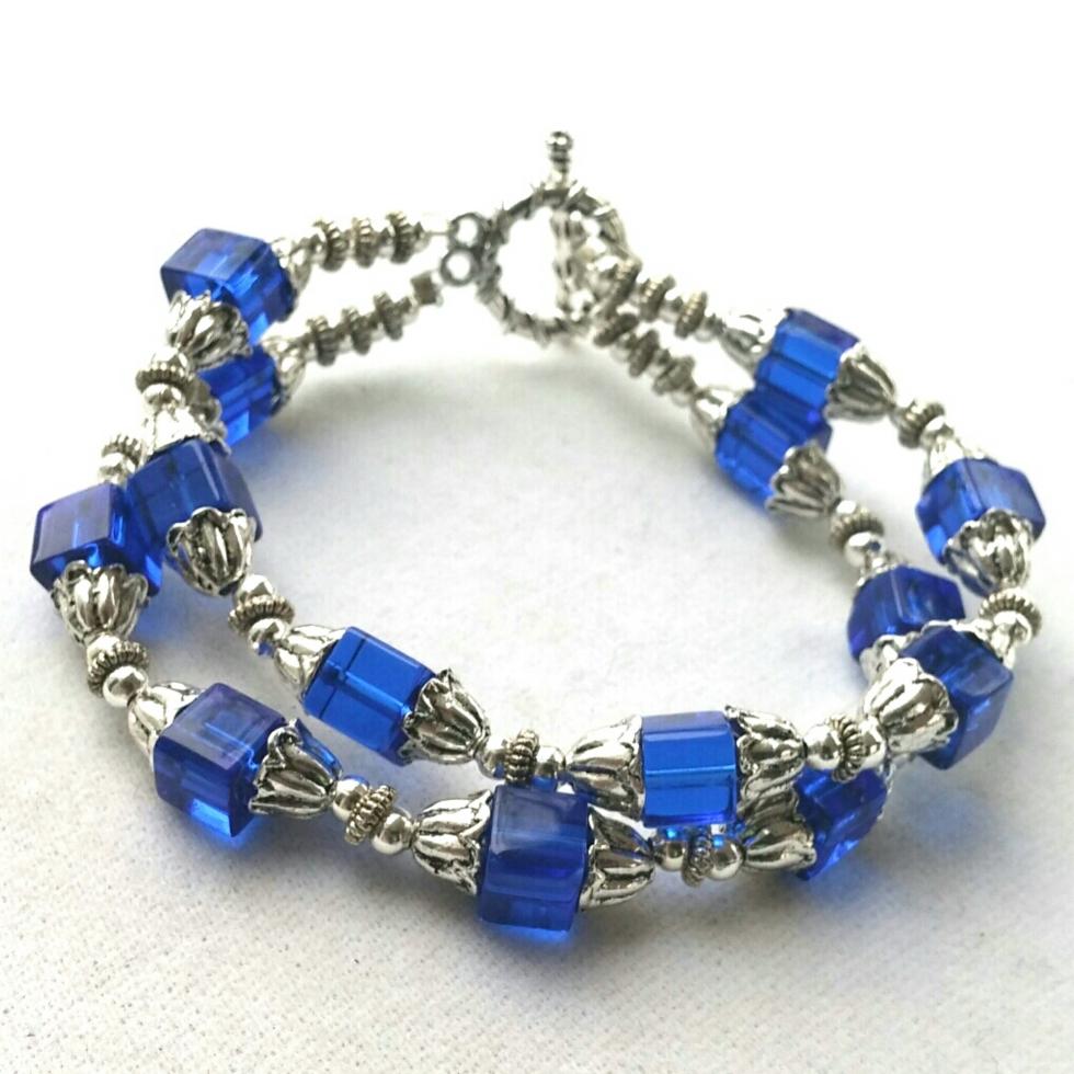 Silver Bracelet, Blue Bracelet, Statement Jewelry, Trendy Jewelry, Fashion Jewelry, Costume Jewelry, Unique Handmade Jewelry, Handmade Bracelet