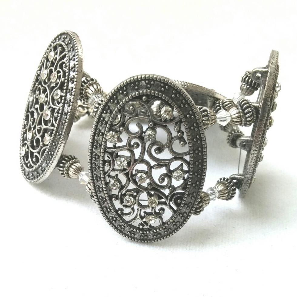 Silver Bracelet, Silver Jewelry, Gypsy Jewelry, Gypsy Bride, Renaissance Jewelry, Renaissance Bride, Bridal Jewelry, Wedding Jewelry