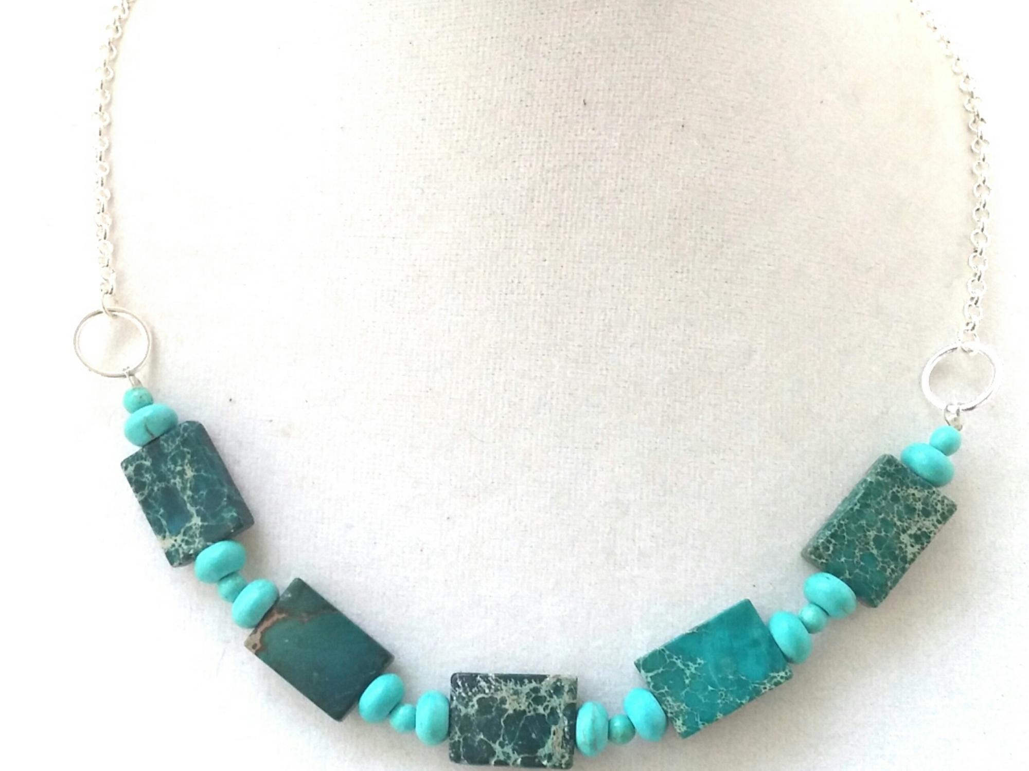 Mermaid Jewelry, Mermaid Necklace, Statement Necklace, Blue Statement Necklace, Unique Blue Jewelry